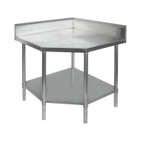 Budget Stainless Corner Bench - Chamfer 600mm