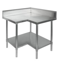 Budget Stainless Steel Corner Bench - 600mm