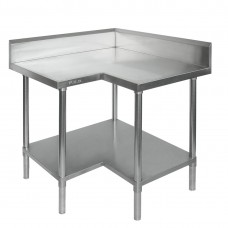 Modular Systems by FED 0900-6-WBCB Budget Stainless Steel Corner Bench - 600mm