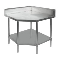 Budget Stainless Corner Bench - Chamfer 700mm