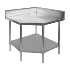 Modular Systems by FED 0900-7-WBCB/H Budget Stainless Corner Bench - Chamfer 700mm