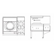 Goldstein CWA1B2 1 Burner Chinese Wok and Double Cooktop