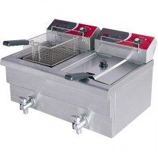 Electmax by FED EF-S7.52 10 Amp Double Benchtop Electric Fryer -2X7.5L