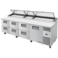 TRUE TPP-AT-119D-6-HC 119, 1 Door & 6 Drawer Pizza Prep Table with Alternate Top & Hydrocarbon Refrigerant