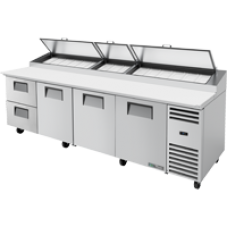 TRUE TPP-AT-119D-2-HC 119, 3 Doors & 2 Drawer Pizza Prep Table with Alternate Top & Hydrocarbon Refrigerant