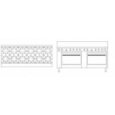 12 Burner Double Oven Range - 711mm Double Oven (28