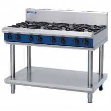 1200mm Gas 8x Burner Cooktop On Leg Stand (Direct)