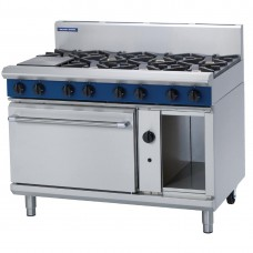 Blue Seal G508D 1200mm Gas 8x Burner Static Range (Direct)
