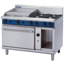 1200mm Static Oven Range 4X Burners and 600mm Griddle