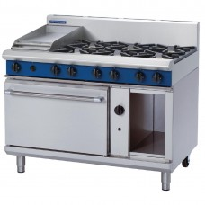 Blue Seal G508C 1200mm Static Oven Range 6X Burners and 300mm Griddle