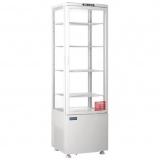 Polar CB509-A Tall Curved Door Display Fridge 235Ltr White
