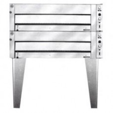 1290mm Double Deck Pizza and Bake Oven - Lift Up SS Door