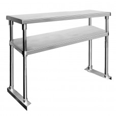 Double Tier Stainless Bench Overshelf - 1200mm