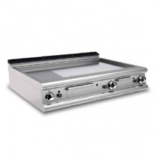 Baron 70FTT/G126 2/3 Smooth 1/3 Ribbed Chromed Gas Griddle Plate