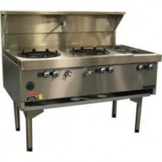 Goldstein CWA2B2 2 Burner Chinese Wok and Double Cooktop