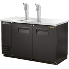 TRUE TDD-2 2 Door Black Direct Draw Beer Dispenser