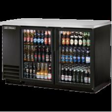 TRUE TBB-2G-LD 2 Glass Door Black Back Bar Refrigerator