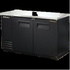 TRUE TBB-2 2 Solid Door Black Back Bar Refrigerator