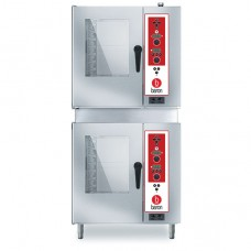 2 x (7 x 1/1GN) Double Stacked Gas Combi Oven with Electronic Controls