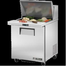 TRUE TSSU-27-12M-B 27, 1 Door Sandwich/Salad Mega Top Prep Table with 9x1/6 & 3x1/9 GN Pans