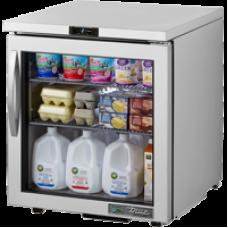 TRUE TUC-27G-LP-HC~FGD01 27, 1 Glass Door Low Profile Refrigerator with Hydrocarbon Refrigerant FGD01