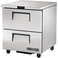 TRUE TUC-27F-D-2-HC 27, 2 Drawered Undercounter Freezer with Hydrocarbon Refrigerant