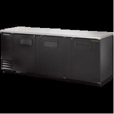 TRUE TBB-4 3 Solid Door Black Back Bar Refrigerator