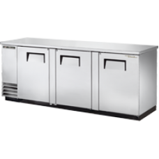 TRUE TBB-4-S 3 Solid Door Stainless Back Bar Refrigerator