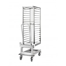 1.20 roll-in trolley incl. 400x600mm Cassette rack, 85mm distance, L-runners
