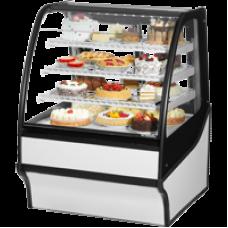 TRUE TDM-R-36-GE/GE-W-W 36, Refrigerated Display Merchendiser, Glass End, White/White