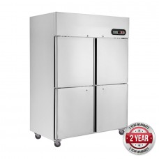 F.E.D. SUF1200 4×½ Door Stainless Freezer 1200L