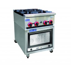 Electmax by FED RB4-YXD 4 Burner Gas Cooktop and Oven 800 Series