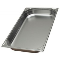 Tray of stainless steel, 65mm - 1/1GN