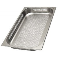 Perforated tray of stainless steel, 60mm - 1/1GN