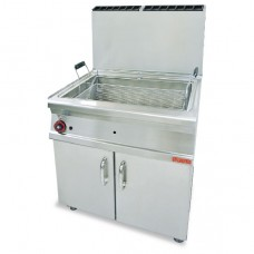 Lotus F45-78G 45L Large Pan Gas Pastry Fryer on Cabinet