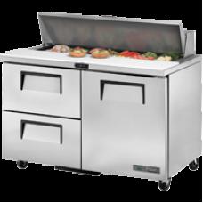 TRUE TSSU-48-12D-2-HC 48, 1 Door & 2 Drawer Sandwich/Salad Prep Table with Hydrocarbon Refrigerant