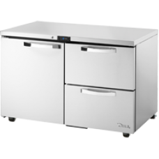 TRUE TUC-48D-2-HC~SPEC1 48, 1 Door 2 Drawer Undercounter Refregerator with Hydrocarbon Refrigerant SPEC1 Series