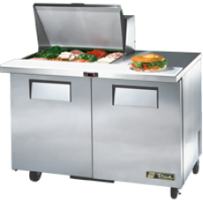 TRUE TSSU-48-12M-B 48, 2 Door Sandwich/Salad Mega Top Prep Table