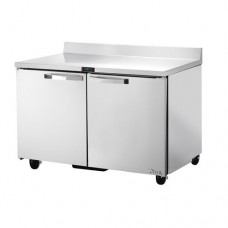 TRUE TWT-48F-HC~SPEC1 48, 2 Door Stainless Work Top Freezer with Hydrocarbon Refrigerant SPEC1 Series