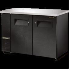 TRUE TBB-24-48 48, 2 Solid Door Black Back Bar Compact Refrigerator