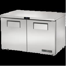 TRUE TUC-48F-LP-HC 48, 2 Solid Door Low Profile Freezer with Hydrocarbon Refrigerant