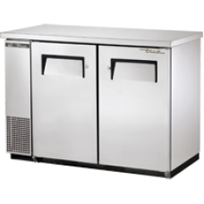 TRUE TBB-24-48-S 48, 2 Solid Door Stainless Back Bar Compact Refrigerator