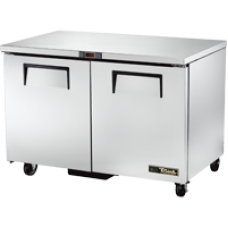 TRUE TUC-48F-HC 48, 2 Solid Door Undercounter Freezer with Hydrocarbon Refrigerant