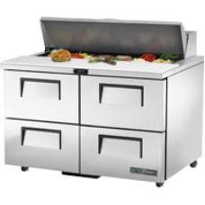 TRUE TSSU-48-12D-4-HC 48, 4 Drawer Sandwich/Salad Prep Table with Hydrocarbon Refrigerant