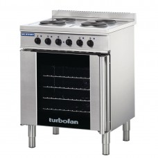 Turbofan E931M 4X Full Size Tray Electric Convection Oven & 4X Plate Cooktop (Direct)