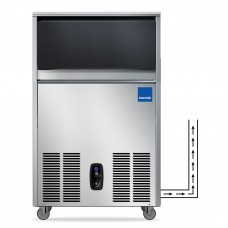 50kg Under Counter Self Contained Ice Machine With In-built Water Drain Pump