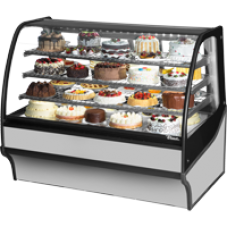 TRUE TDM-R-59-GE/GE-S-S 59, Refrigerated Display Merchendiser, Glass End, SS/SS