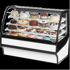 TRUE TDM-R-59-GE/GE-W-W 59, Refrigerated Display Merchendiser, Glass End, White/White