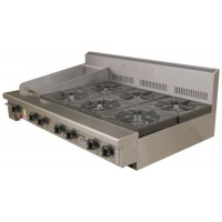 6 Burner and 305Mm Griddle Cooking Top (Bench/Stand Mounted)