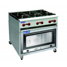 6 Burner Gas Cooktop and Oven 800 Series